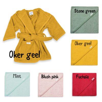 kleuren-badjassen-badcape-naam-geborduurd-