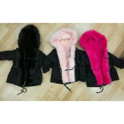 jas-fake-fur-meisjes-roze