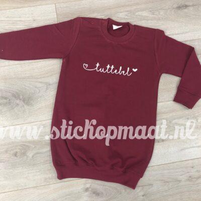 sweater-dress-jurkje-tekst-tuttebel-eigen-naam