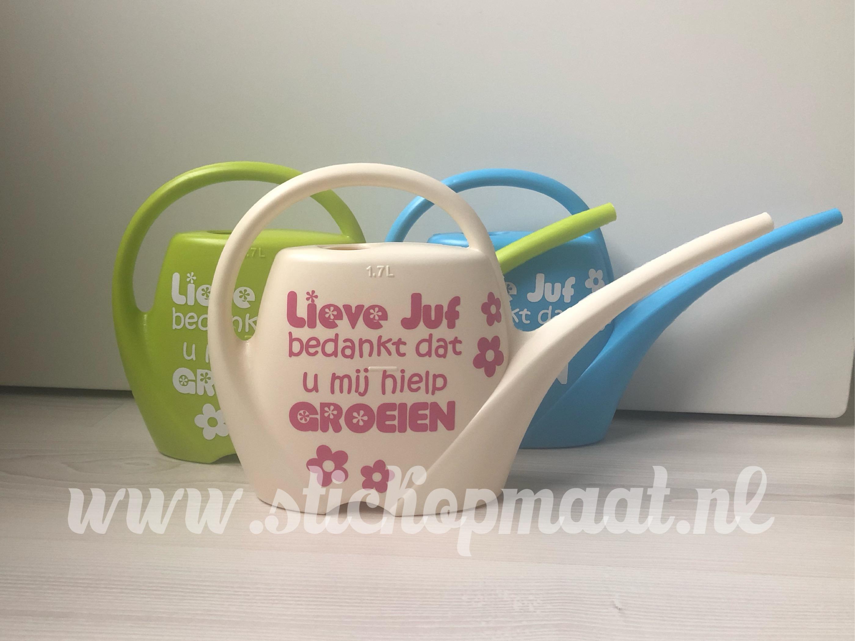 Gieter Juf Afscheid Cadeau Stickers Op Maat