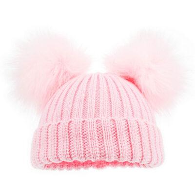 winter-muts-roze-fur-pom-dubbel